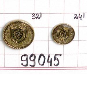"""Guzik klubowy z herbem 99045 24"""" 32"""""""