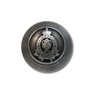 """Guzik klubowy z herbem 33512 rozmiar 24"""" srebrny metalowy"""