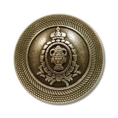 """Guzik klubowy z herbem 33512 rozmiar 36"""" złoty metalowy"""
