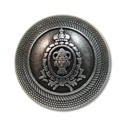 """Guzik klubowy z herbem 33512 rozmiar 36"""" srebrny metalowy"""