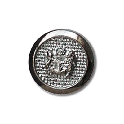 Guzik klubowy z herbem 98500 rozmiar 24'' srebrny