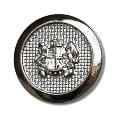 Guzik klubowy z herbem 98500 rozmiar 32'' srebrny