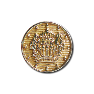 Guzik klubowy z herbem 98040 rozmiar 24″ złoty