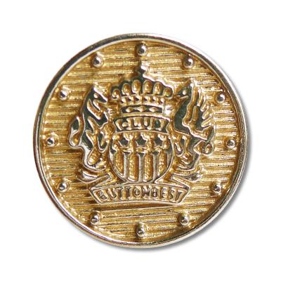Guzik klubowy z herbem 98040 rozmiar 32″ złoty