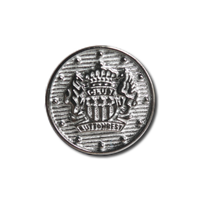 Guzik klubowy z herbem 98040 rozmiar 24″ srebrny