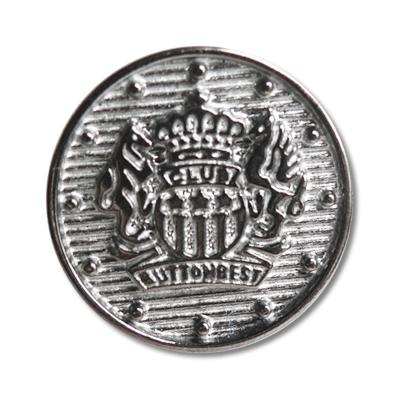 Guzik klubowy z herbem 98040 rozmiar 32″ srebrny