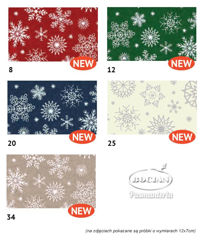 Arkusze filcu w zimowe świąteczne wzory (2018)