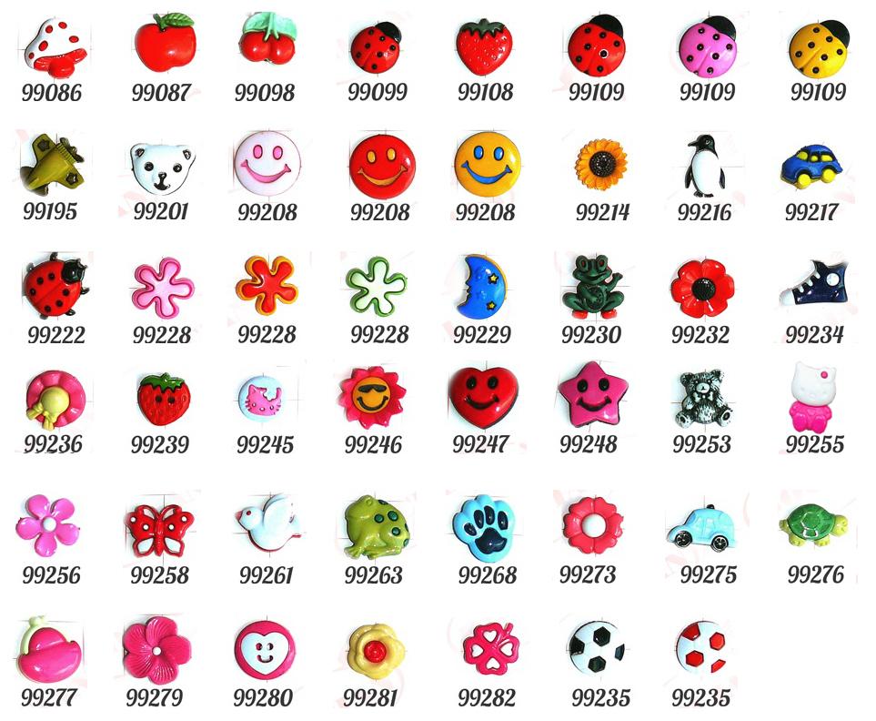 Guziki dziecięce - wzory guzików dziecięcych
