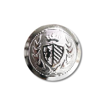 """Guzik metalowy z herbem 33671 rozmiar 24"""" srebrny"""