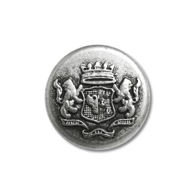 """Guzik metalowy z herbem 33672 rozmiar 24"""" srebrny"""