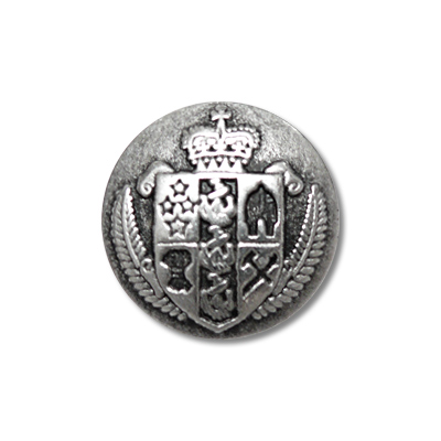 """Guzik metalowy z herbem 33673 rozmiar 24"""" srebrny"""