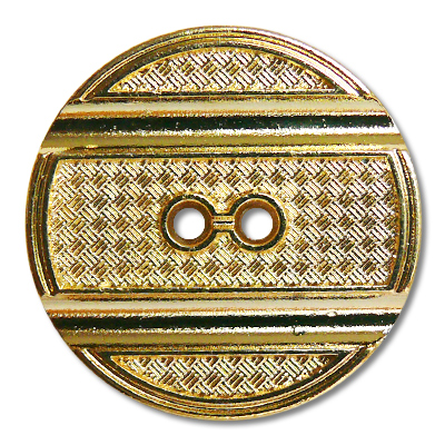 """Guzik metalowy 33674 rozmiar 40"""" złoty (rewers)"""