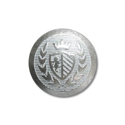 """Guzik metalowy z herbem 33675 rozmiar 24"""" srebrny"""