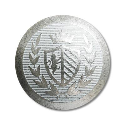 """Guzik metalowy z herbem 33675 rozmiar 32"""" srebrny"""