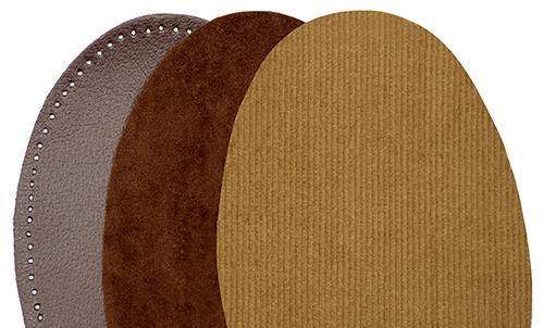 Łaty bawełniane, zamszowe, sztruksowe, skóropodobne.